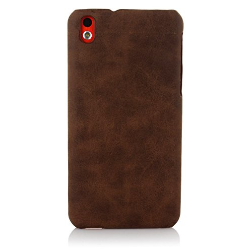 ImagineDesign™ Premium Handmade Weathered Leather Texture Collection Back Case Cover for HTC Desire 816/816G (Textured Brown)
