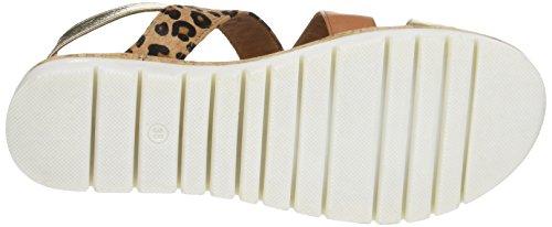 Inuovo - 7908, Laccetto alla caviglia Donna Multicolore (Gold Coconut Leopard)