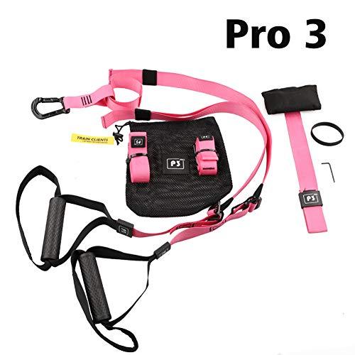 ZLQF Schlingentrainer Suspension Trainer Basic und Door Anchor,Pink,P3