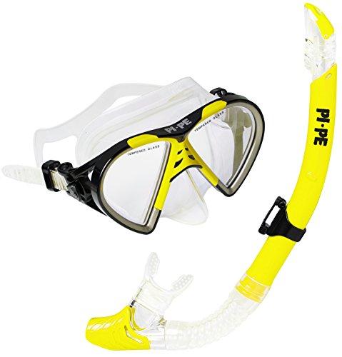 PI-PE Taucherbrille & Schnorchel Set Active Yellow