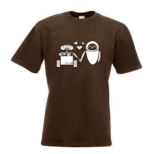 KIWISTAR - Computerliebe T-Shirt in 15 verschiedenen Farben - Herren Funshirt bedruckt Design Sprüche Spruch Motive Oberteil Baumwolle Print Größe S M L XL XXL Chocolate