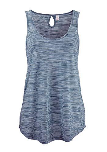 ELFIN Damen Tops Tanktop Rundhals Ärmellos Shirt Lässig Oberteile Täglichen Sport Yoga Tee - Elastic Neck Top