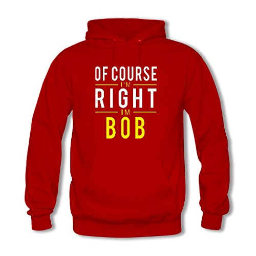 HKdiy Of Course I'm Right I'm Bob Custom Classic Men Hoodie Red-1