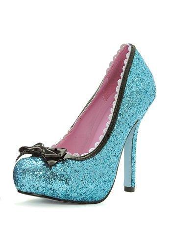 Leg Avenue 5001 - Princess 5 Zoll Glitzer Pump Schuh, Größe 7, blau