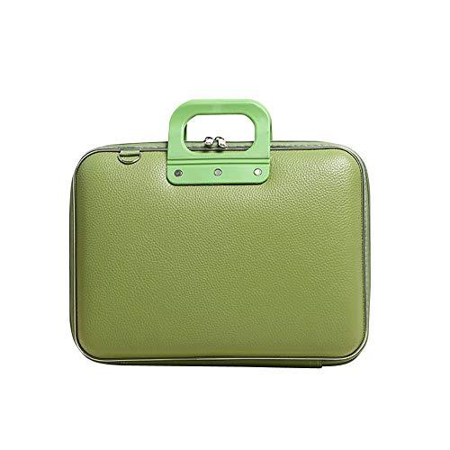 Kunstleder Platform (BYDIGITAL Computertasche aus PVC-Kunstleder, Geschäftseinheit, PVC-Kunstleder, Geschenk grün grün Größe)