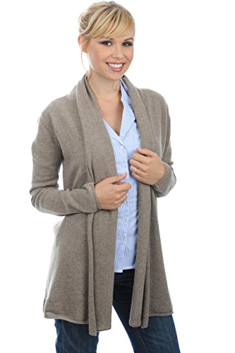 gilet cachemire femme natural brown chiné