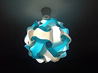 luminaire boule lampe puzzle bleu turquoise blanc romantica design lights 33cm ljdesgnlights. Black Bedroom Furniture Sets. Home Design Ideas