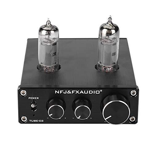 VBESTLIFE Röhrenverstärker-Vorverstärker, Mini-Vakuumröhrenkopfhörer-Vorverstärker-Audio-Verstärker HiFi-Stereo-Sound-Puffer-Vorverstärker(Schwarz)