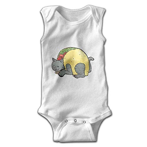 fhcbfgd Newborn Baby Girl's Sleeveless Rompers Cat Hamburger Outfit Bodysuit
