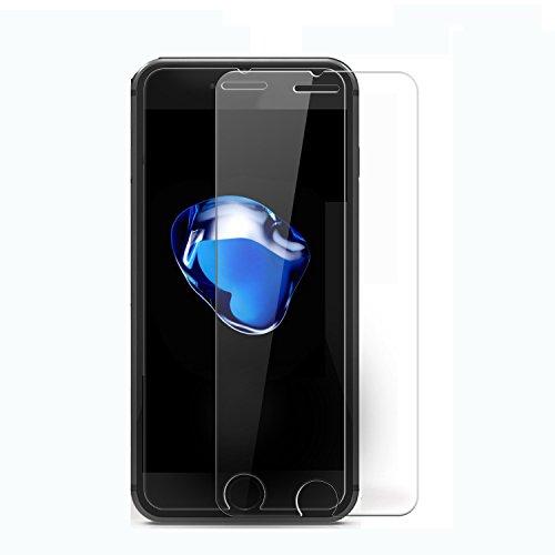 iPhone 7 Plus Halb Tempered-Glass Screen Protector Gehärtetem Glas Panzerglas Schutzfolie Displayschutzfolie Displayschutz für Apple iPhone 7 Plus Premium-Crystal Clear - 9H Härte (1 Pack)