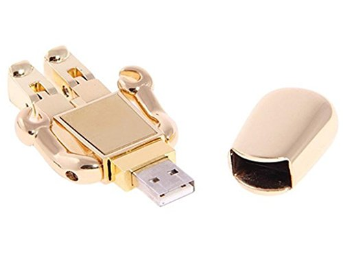 Quace 32 GB Gold Flexible Robot Fancy USB Pen Drive