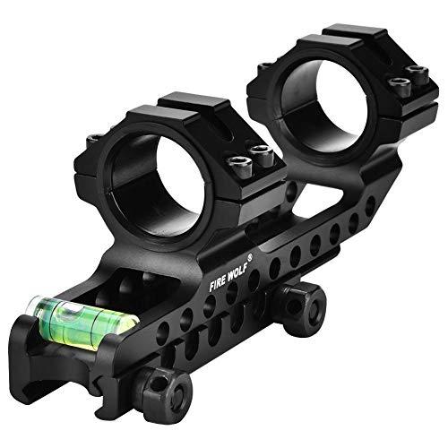 SOULONG Leicht und langlebig Scope Mount, 2 Montage Ringe 30 mm / 25,4 mm für 20 mm Picatinny-Weberschienen -