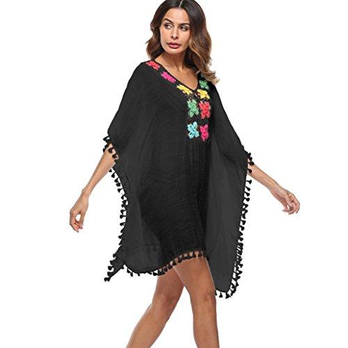 Cover-up-rock-kleid (Kanpola Damen Strandkleid Strandponcho Boho Beach Bikini Bademode Cover Up Elegant Rock Kleid)