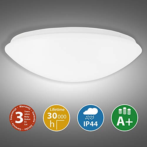 McLED 32W Deckenleuchte | 4000K LED Deckenlampe neutrales Weiß | IP44 Wasserfeste Badezimmer Lampe | Kinderzimmer & Schlafzimmer | Arbeitszimmer Leuchte 30.000h Lebensdauer | Balkon & Flur | Ø41cm