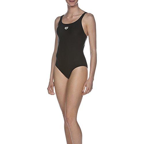arena Damen Sport Badeanzug Dynamo (Schnelltrocknend, UV-Schutz UPF 50+, Chlor- /Salzwasserbeständig), schwarz (Black), 34