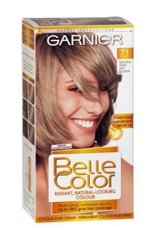 Garnier Belle Couleur de cheveux–Blond Cendré foncé naturel (Nombre 7.1), Lot de 3
