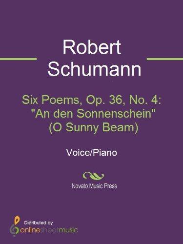 Sunny Beam (Six Poems, Op. 36, No. 4:
