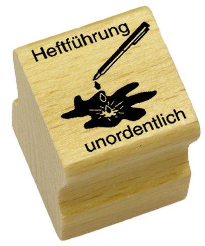 Elbi Lehrerstempel: Heftführung unordentlich aus Holz – K6/8
