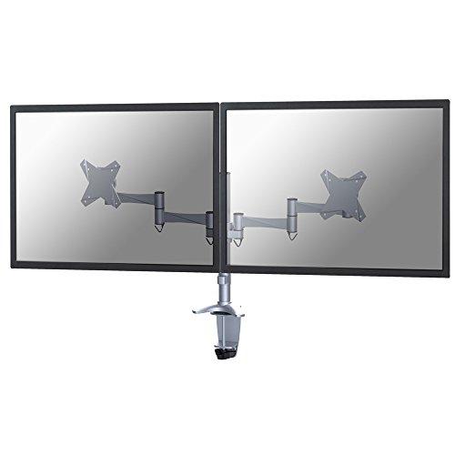Flat-panel-mount-system (NewStar FPMA-D1330DSILVER Flatscreen Desk Mount für 2x LCD/TFT (60 cm (24 Zoll), Belastbarkeit: 18Kg))