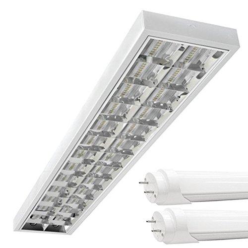 PureLed *HIT* SET LED Rasterleuchten Bürolampe Rasterlampe Deckenleuchte inkl. LED T8 3000K warmweiß