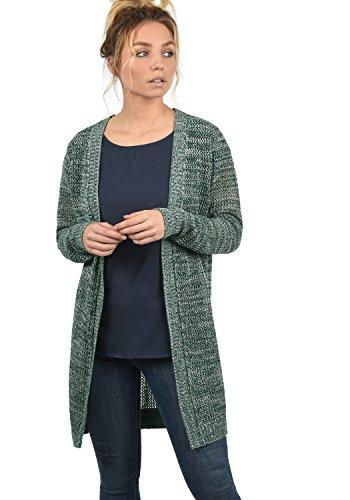 DESIRES Lia Damen Lange Strickjacke Lochstrick Cardigan Strickcardigan MIt Offenem V-Ausschnitt Aus 100% Baumwolle Loose Fit, Größe:XXL, Farbe:North ATL. (3324M)