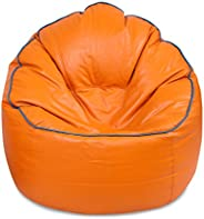 VSK Bean Bag Cover XXXL Sofa Mudda Cover Orange (Without Beans)