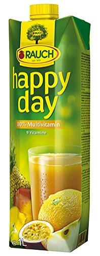 Happy Day Multivitaminsaft 100 %, ohne Zuckerzusatz, mit Vitamin C, Tetra - 1L