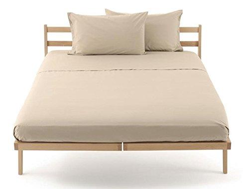Lenzuolo sotto con angoli zucchi clic clac percalle di puro cotone letto matrimoniale 2 due piazze cm 175 x 200 100% made in italy (corda - 1634)