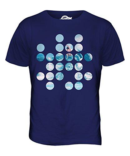 CandyMix Surfen Kreisförmigen Muster Herren T Shirt Navy Blau