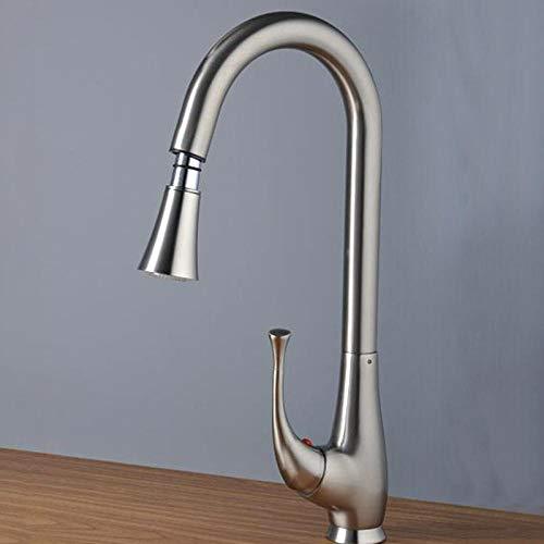 Heißes Und Kaltes Messing Neue Faucet_Household Mischen Küchengeschirr Nickel Gebürstetem Kupfer Waschbecken Wasserhahn -