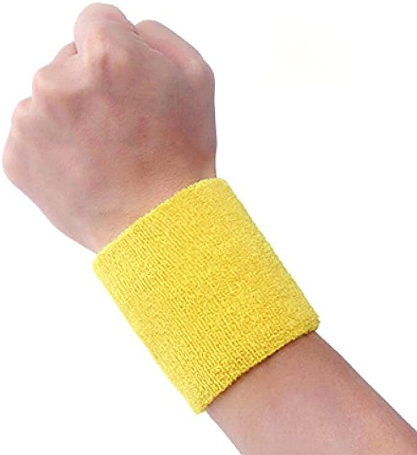 Lecimo Sweat Wrist Band Sports Gym Sweatband Fitness Toalla Vestido De Lujo Ejecutar,1#  -