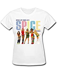 Flip rings Women's Spice Up Your Life Spice Girls Band T-Shirts Pink
