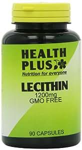 Health Plus Lecithin 1200mg Memory Plant Supplement - 90 Capsules