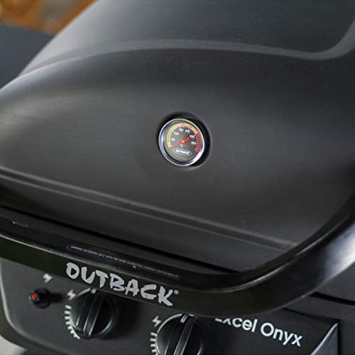 Outback Excel Onyx 2-Burner Gas Trolley BBQ with Side Burner