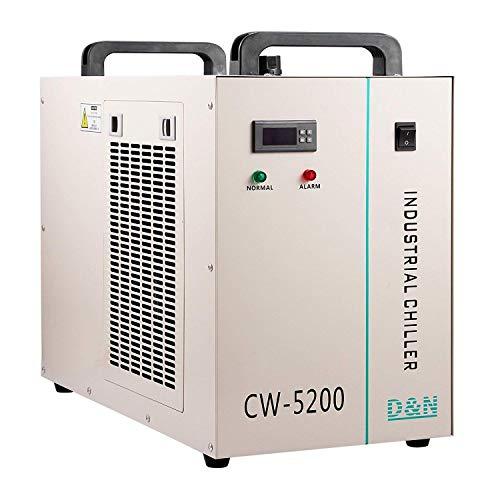 FlowerW Wasserkühler 6L Brauchwasserkühler 10L / min Wasserkühler 1400W Wasserkühler Wasserkühler 130 / 150W CO2 Glasrohr (CW5200) (CW5200)