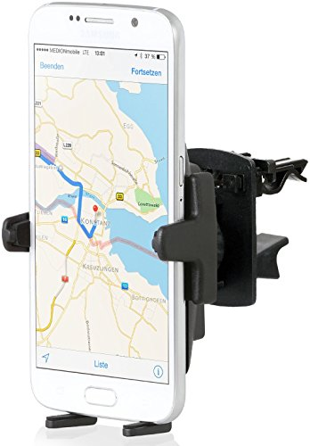 Wicked Chili KFZ Lüfter Halterung mit Kugelgelenk für Samsung Handy/Smartphone (kompatibel mit Bumper/Hüllen, Made in Germany) schwarz (Kit Mount Air Vent)
