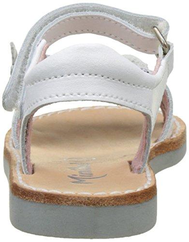 Minibel Malisa, Sandales Bout Ouvert Fille Blanc (Blanc)