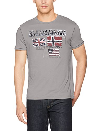 napapijri-seonay-bp-t-shirt-homme-gris-med-grey-solid-xx-large
