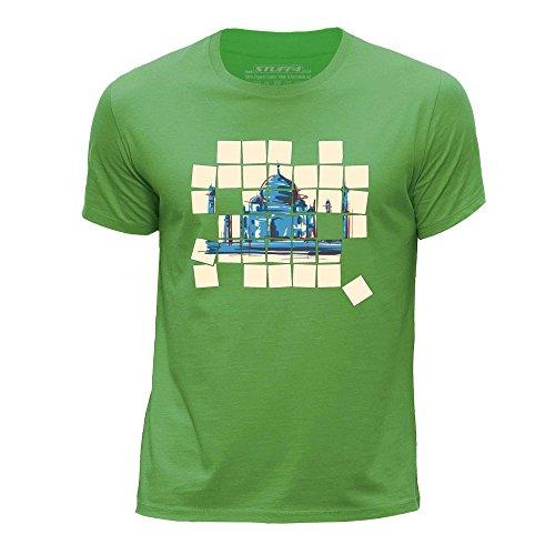 STUFF4 Ragazzi/Età 5-6 (110-116cm)/Verde/Girocollo T-Shirt/Vecchio Mosaico/Taj Mahal
