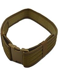 Deporte al aire libre Nylon táctico militar portante Cambat servicio Web cintura cinturón color caqui