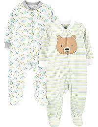 Simple Joys by Carter's Baby Schlaf- und Spielanzug aus Baumwolle mit Füßen, 2er-Pack