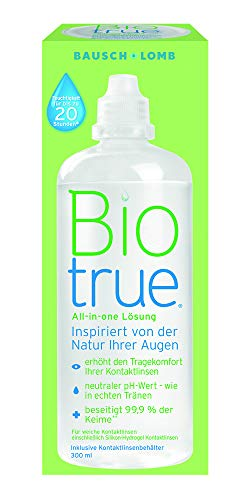 Bausch & LombBiotrue Pflegemittel für weiche Kontaktlinsen, Einzelflasche (1 x 300 ml)