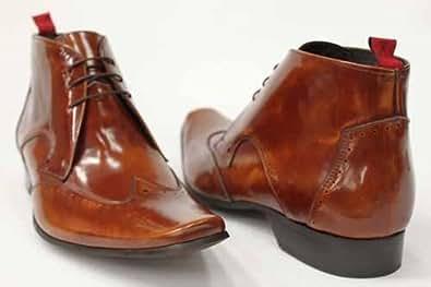 G0146Hn Cheap Mens Jeffery West Designer Office Brogues Shoes Chukka Boots Size Uk 8