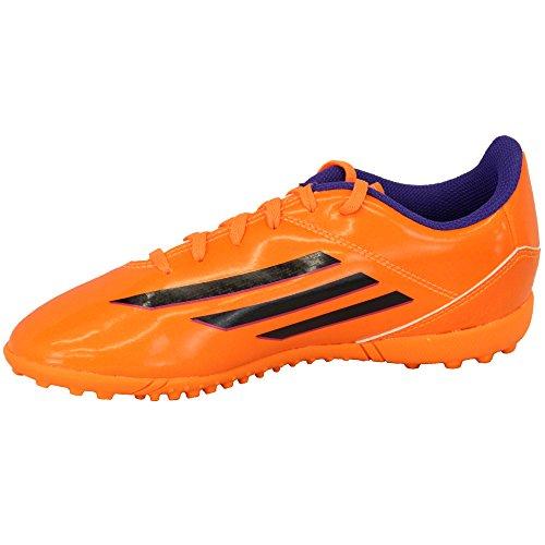 Adidas - Chaussures Football Gazon et Indoor Enfants A Lacets et en Maille ORANGE - ADF32773