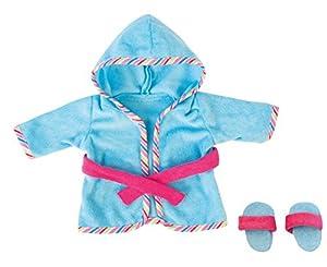 Bayer Design - Albornoz y Chancletas para muñecas, Color Azul y Fucsia (83873)