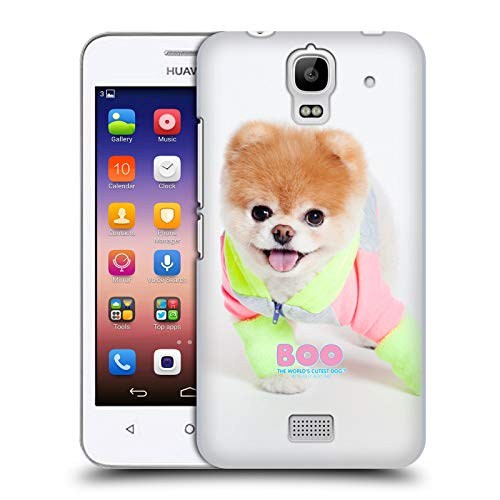 Head Case Designs Offizielle Boo-The World's Cutest Dog Neon Jacke Portraits Ruckseite Hülle für Huawei Y360 / Y3