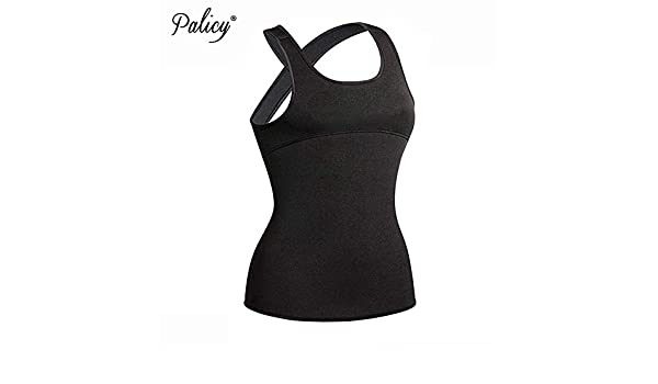 74cbd41bb82 Palicy Back Shapewear Slimming Thermo Camisole Hot Slim Belt Neoprene Body  Shaper Vest Sweat Sauna Waist Trainer Corset  USPS  Color Black Size 2XL   ...