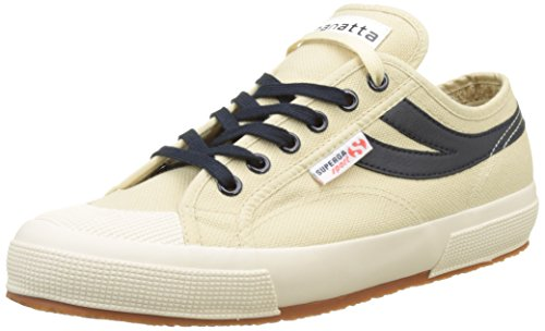 Superga 2750-Cotu Panatta, Baskets Basses Mixte Adulte Beige (Écru-Navy)