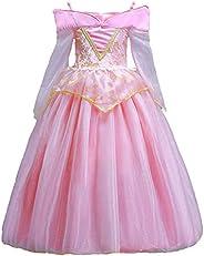 ELSA & ANNA® Princesa Disfraz Traje Parte Las Niñas Vestido Sleeping Beauty Vestido Aurora Vestido (Girls