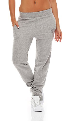 Gennadi Hoppe Damen Jogginghose Trainingshose Sweat Pants Sporthose Fitness Hose,hell grau,Medium